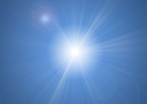Как сделать солнечны блики